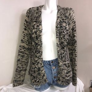 Forever 21 Rusty Brown&Black Open Cardigan Sweater